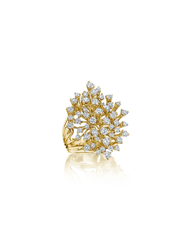 Luminus 18k Yellow Gold Stemmed Multi-Diamond Ring