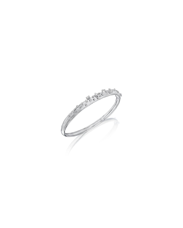 Bahia 18k White Gold Diamond Bangle Bracelet