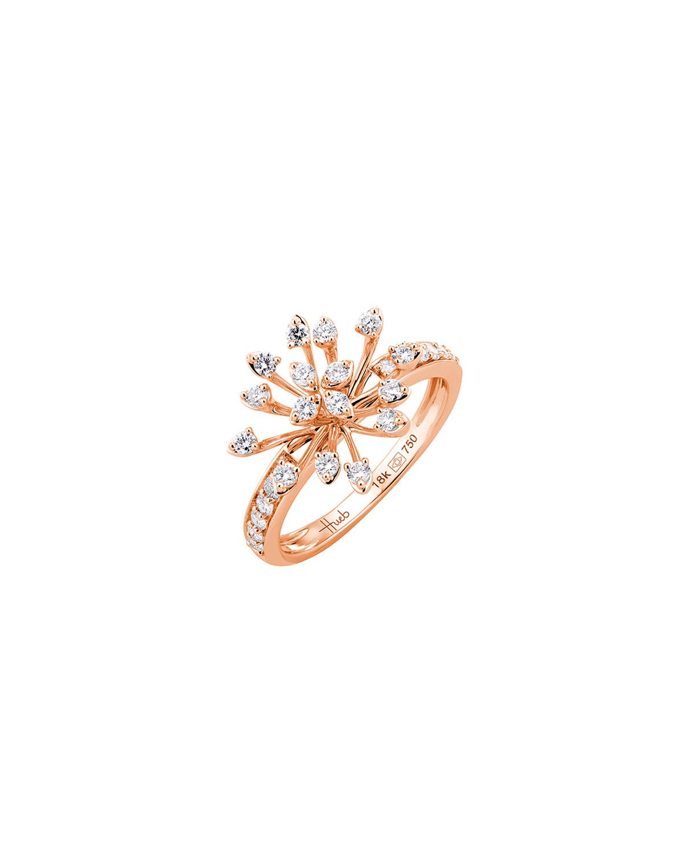 Luminus 18k Pink Gold Diamond Stemmed Ring