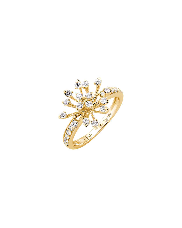 Luminus 18k Yellow Gold Diamond Stemmed Ring