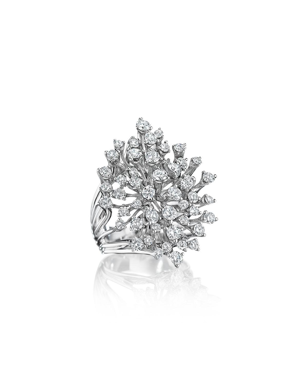 Luminus 18k White Gold Stemmed Multi-Diamond Ring