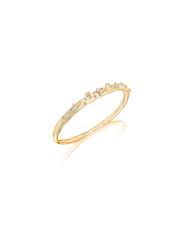 Bahia 18k Gold Diamond Bangle Bracelet