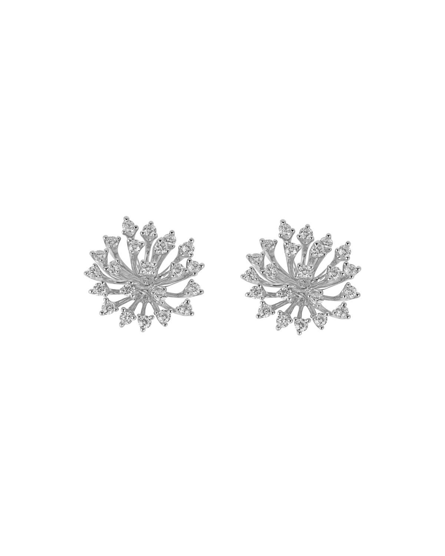 Luminus 18k White Gold Stemmed Diamond Earrings