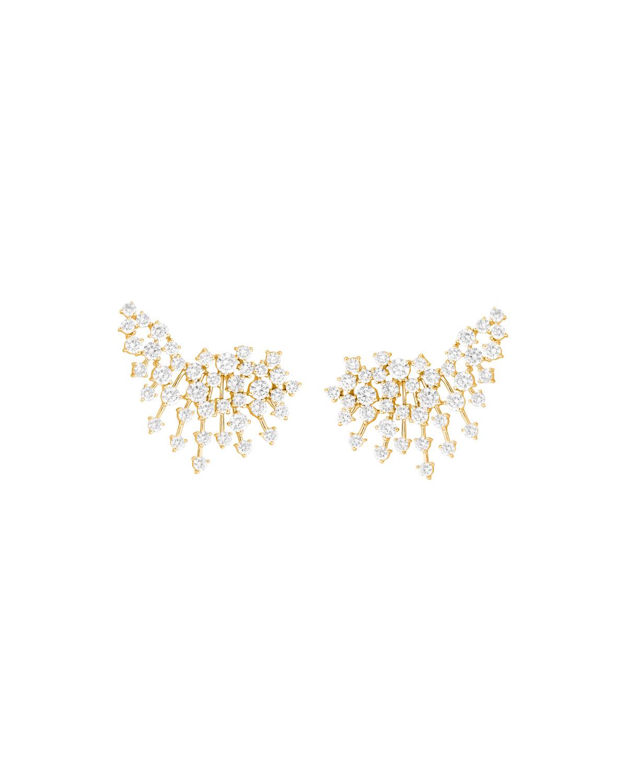 Luminus 18k Yellow Gold Diamond Burst Earrings