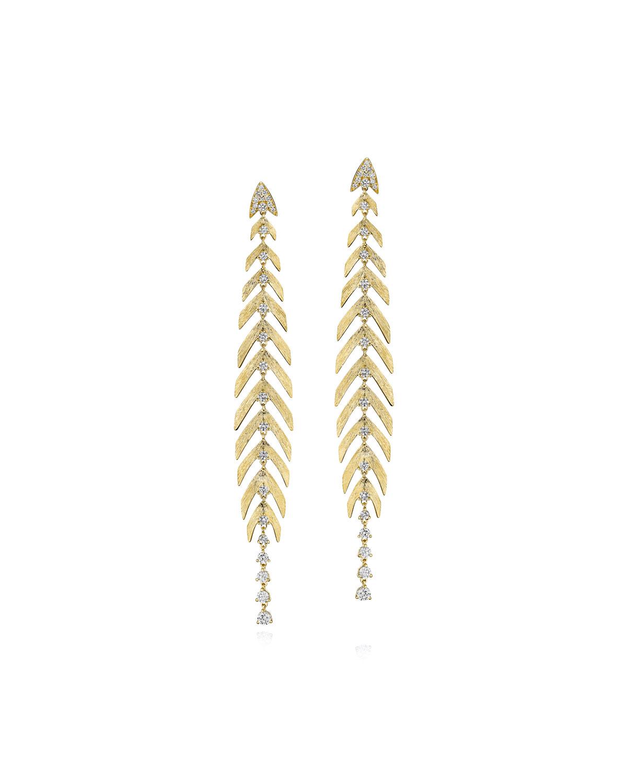Bahia 18k Gold Linear Diamond Earrings