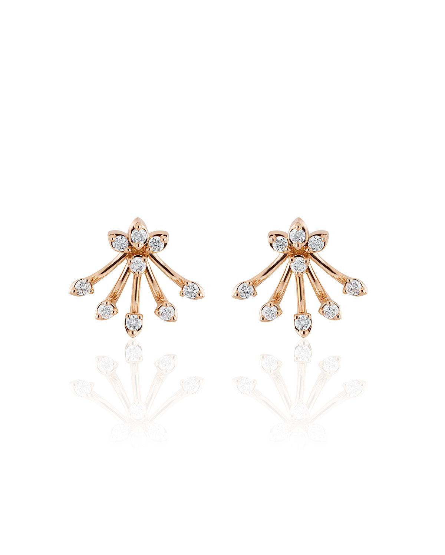 Luminus 18k Pink Gold Diamond Bouquet Earrings
