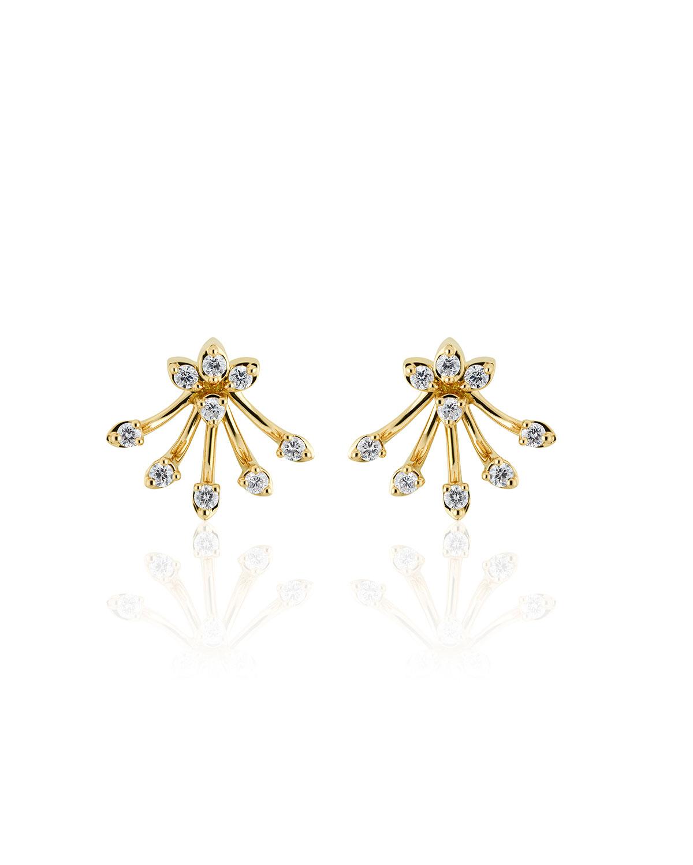 Luminus 18k Yellow Gold Diamond Bouquet Earrings