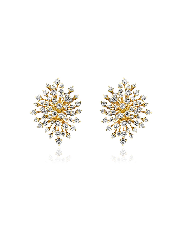 Luminus 18k Yellow Gold Multi-Diamond Burst Earrings