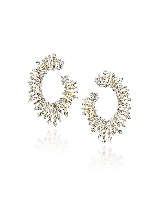 Luminus 18k Yellow Gold Diamond Loop Earrings