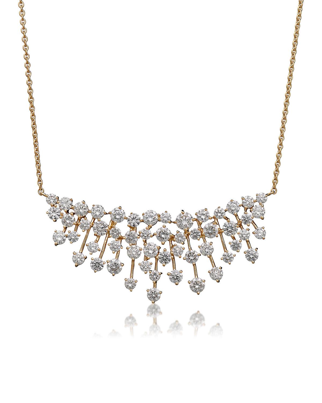 Luminus 18k Yellow Gold Stemmed Diamond Necklace