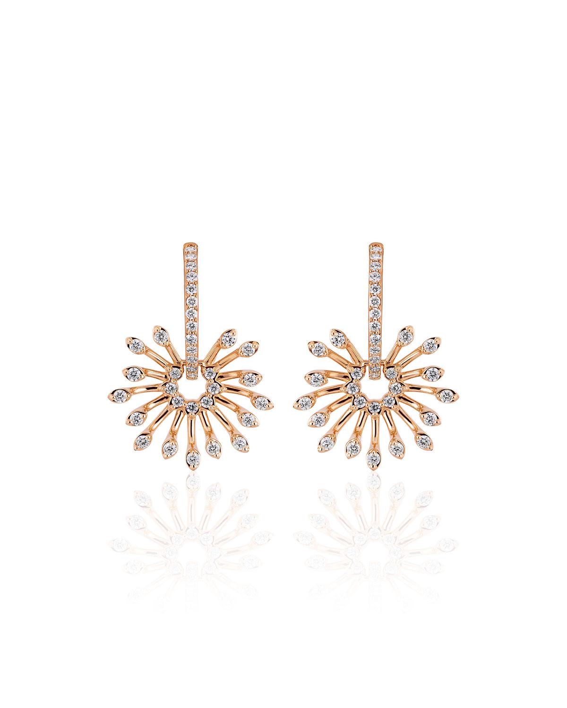 Luminus 18k Pink Gold Stemmed Diamond Drop Earrings