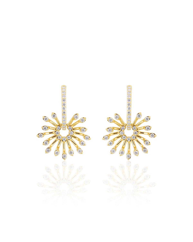 Luminus 18k Yellow Gold Stemmed Diamond Drop Earrings