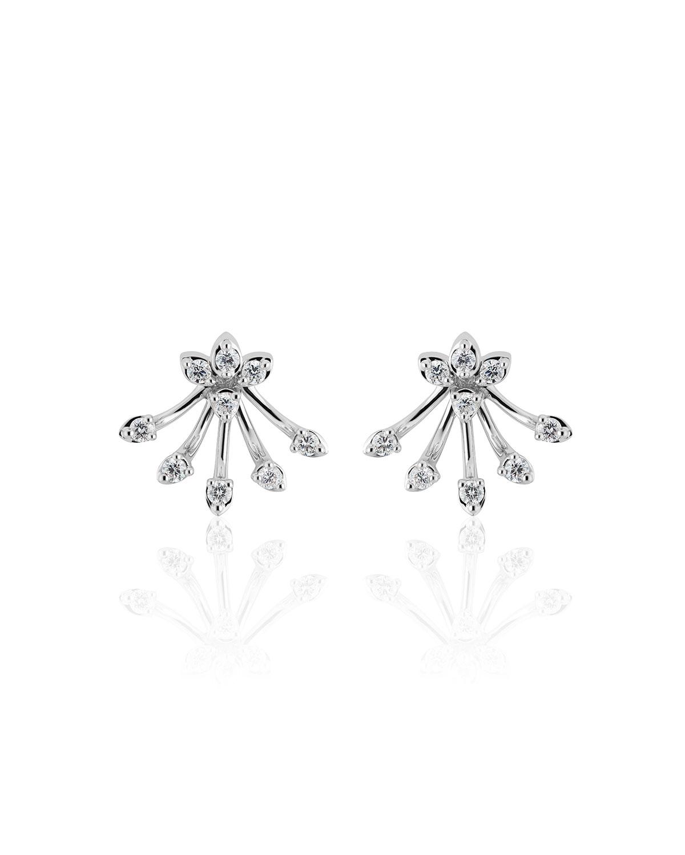 Luminus 18k White Gold Diamond Bouquet Earrings