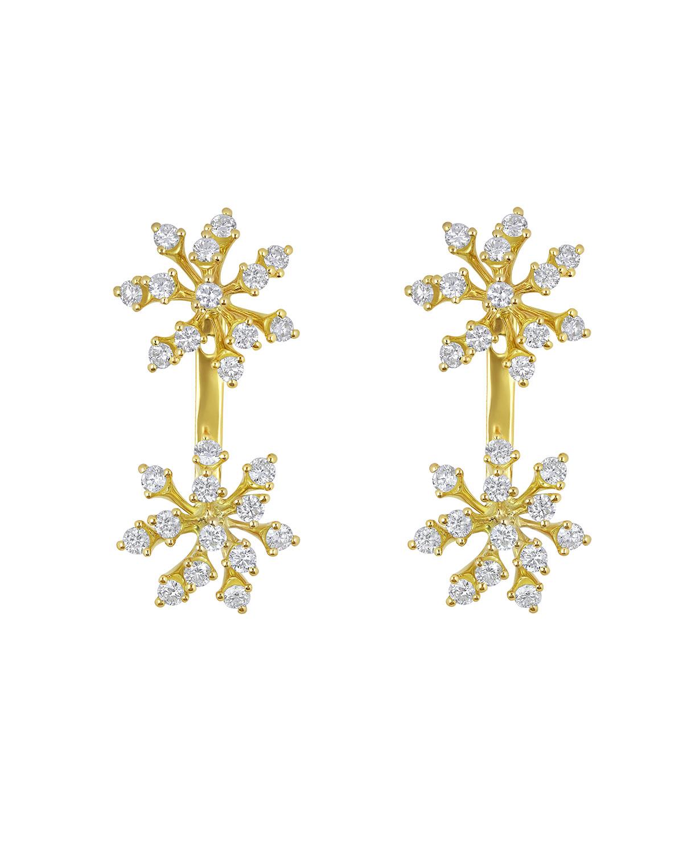 Luminus 18k Yellow Gold Diamond Double-Stud Earrings