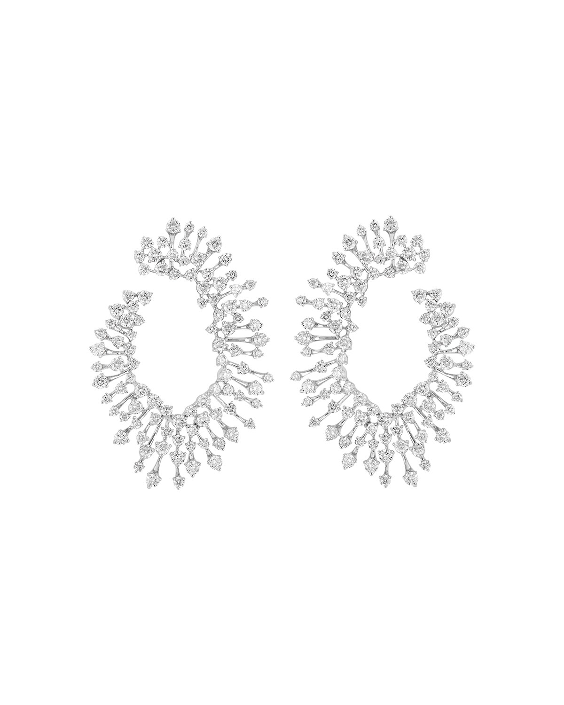 Luminus 18k White Gold Diamond Loop Earrings