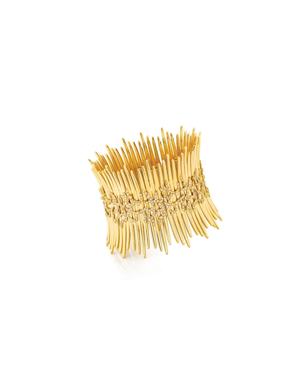 Tribal 18k Gold Diamond Bracelet