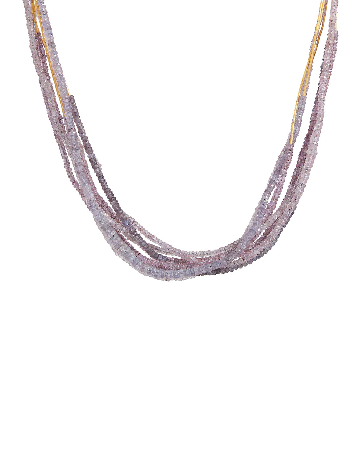 One-of-a-Kind Waterfall Multi-Strand Sapphire Necklace