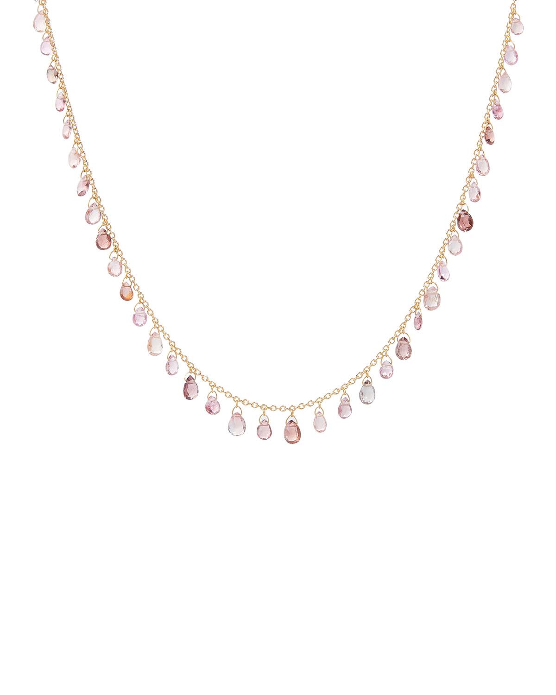One-of-a-Kind Dew Hue 24k Gold Tourmaline Necklace
