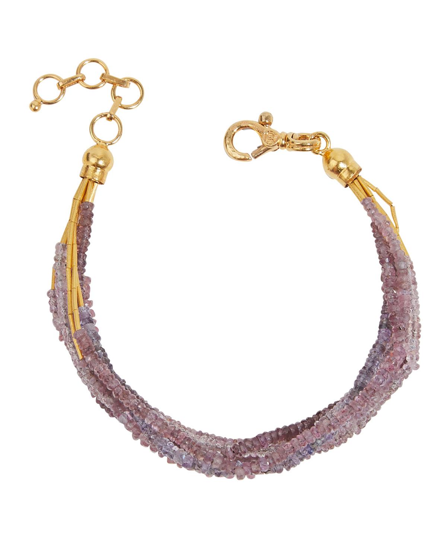 Waterfall 24k Gold Multi-Strand Sapphire Bracelet