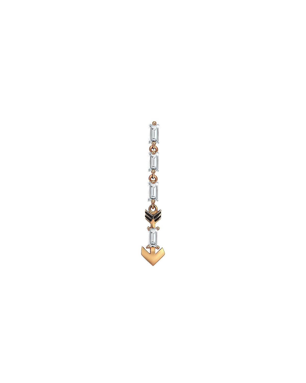 14k Rose Gold Diamond Arrow Dangle Earring