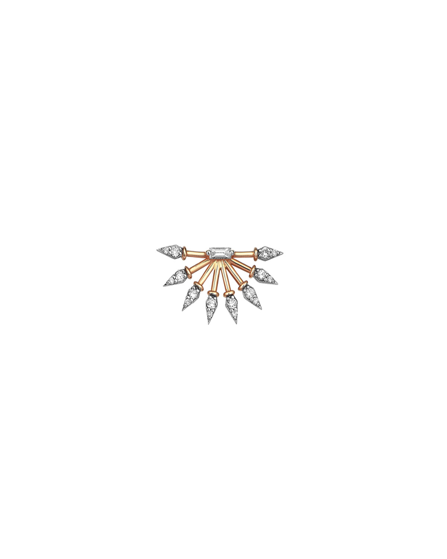 14k Rose Gold 8-Ways Diamond Earring