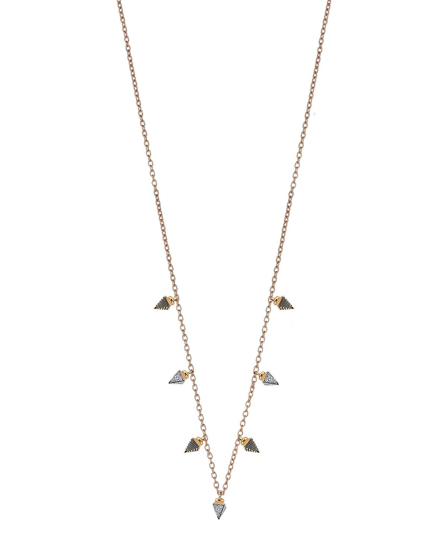 14k Rose Gold 7-Spear Bracelet with Diamonds