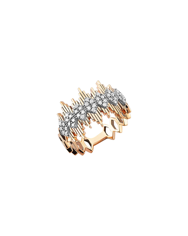 14k Rose Gold Diamond Apex Ring