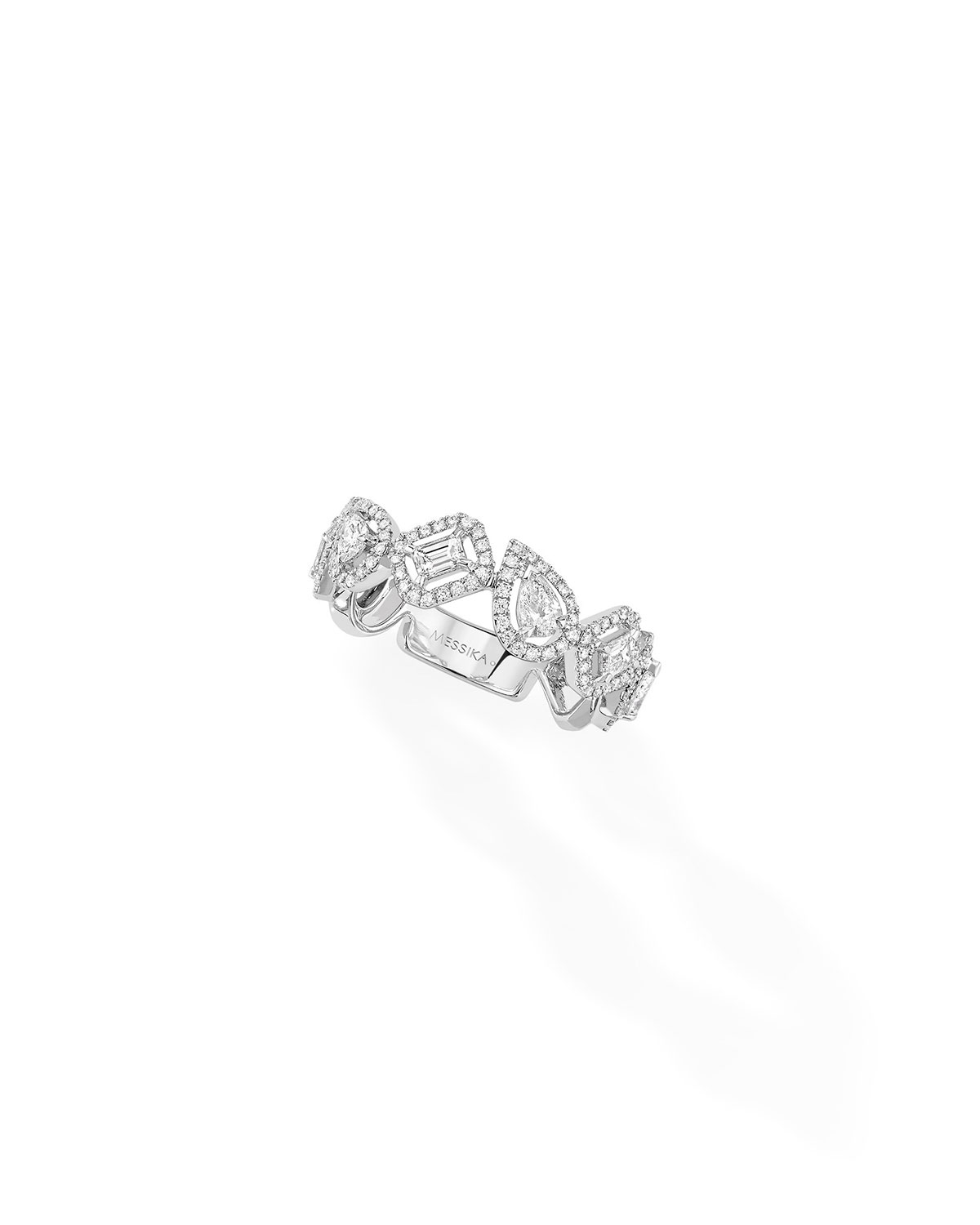 Alliance My Twin Ring in 18k White Gold and Diamonds