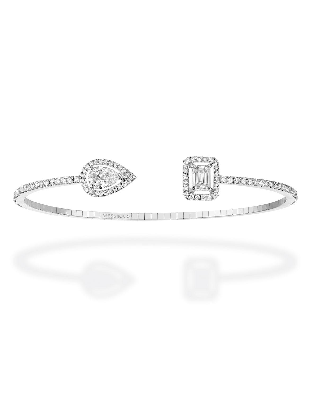 My Twin Skinny Bracelet in 18k White Gold and Diamonds