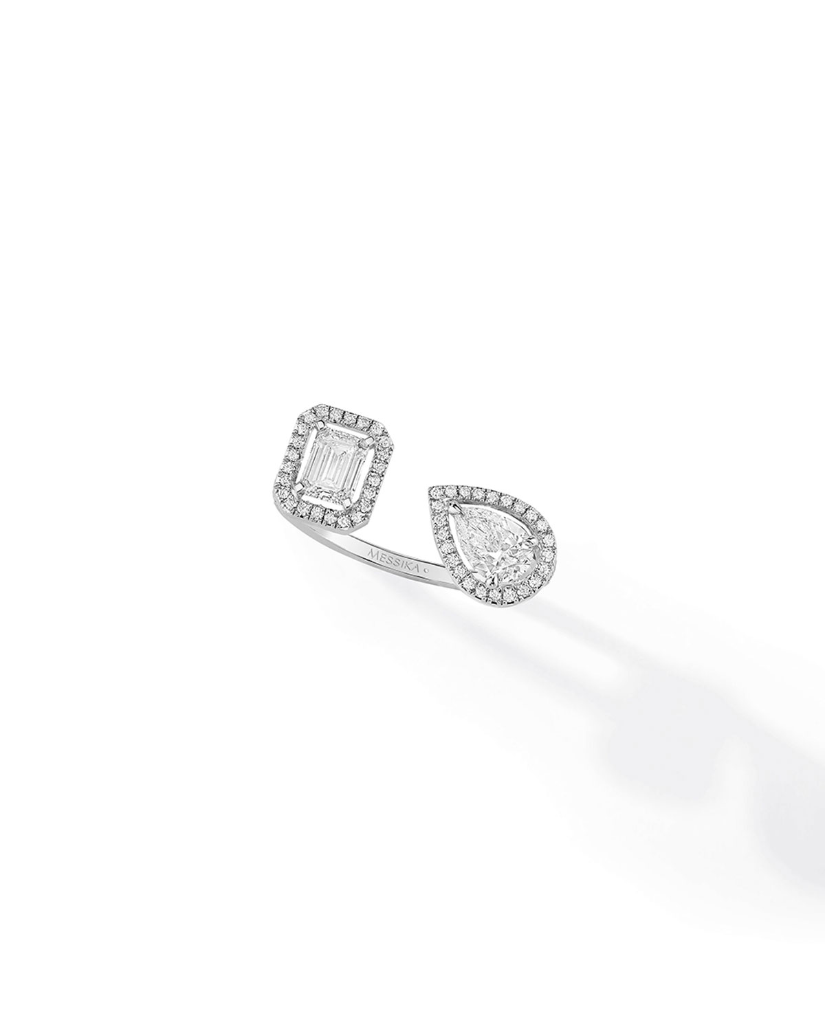 My Twin Toi & Moi Ring in 18k White Gold