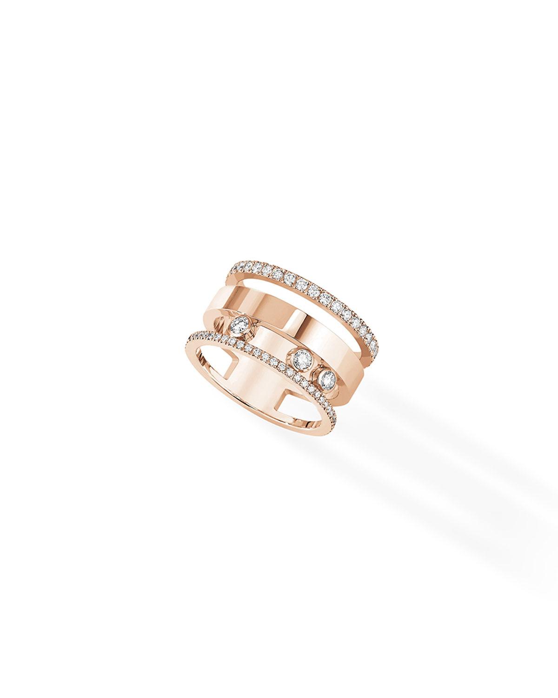 Move Romane Large Diamond Ring in 18k Pink Gold