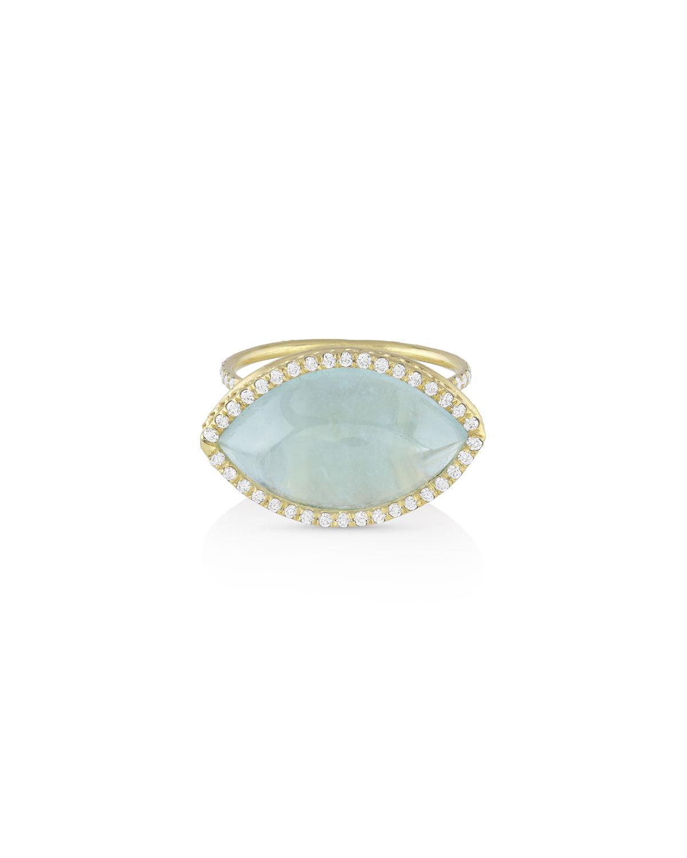 18k Gold Aquamarine