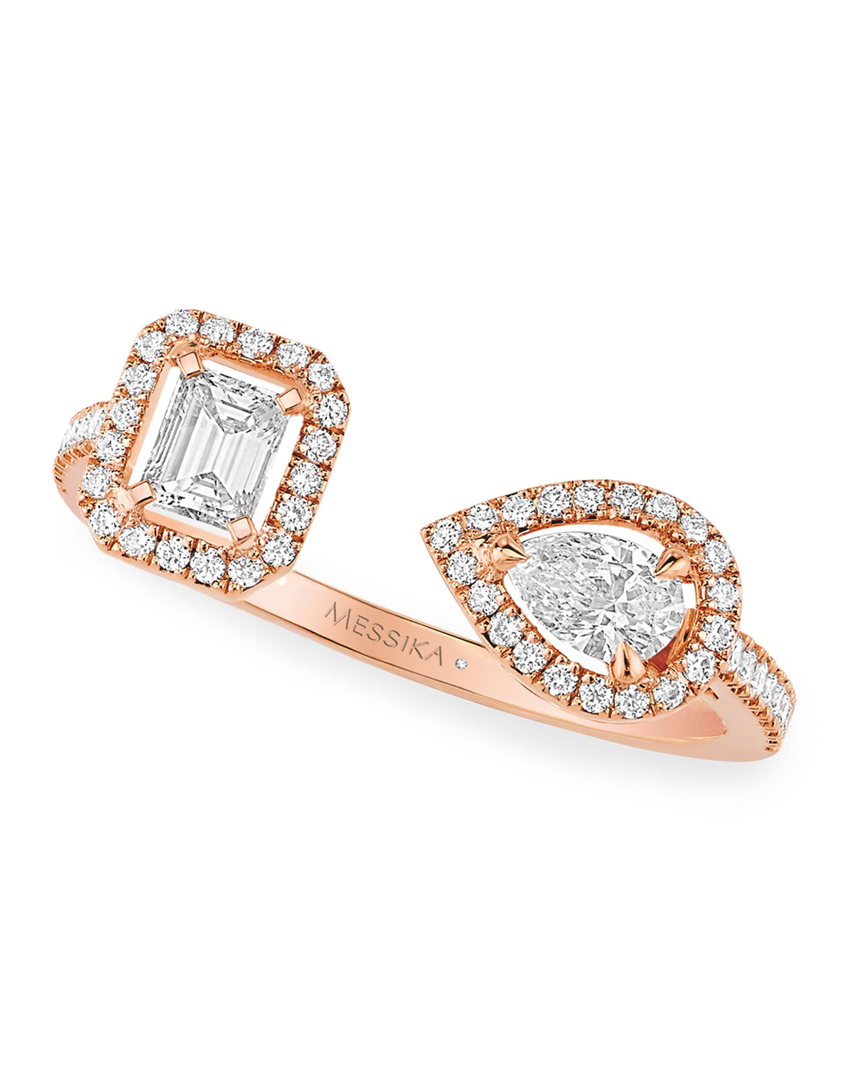 My Twin Ring in 18k Rose Gold and Diamonds