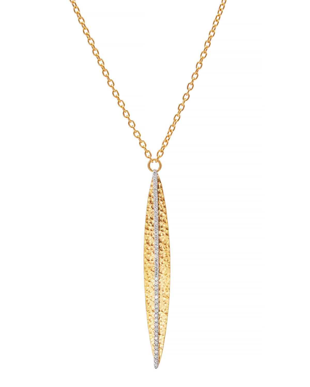 Willow 24k Gold Diamond Pendant Necklace