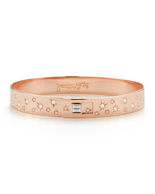 Limited Edition Anniversary 18k Rose Gold Diamond Cuff