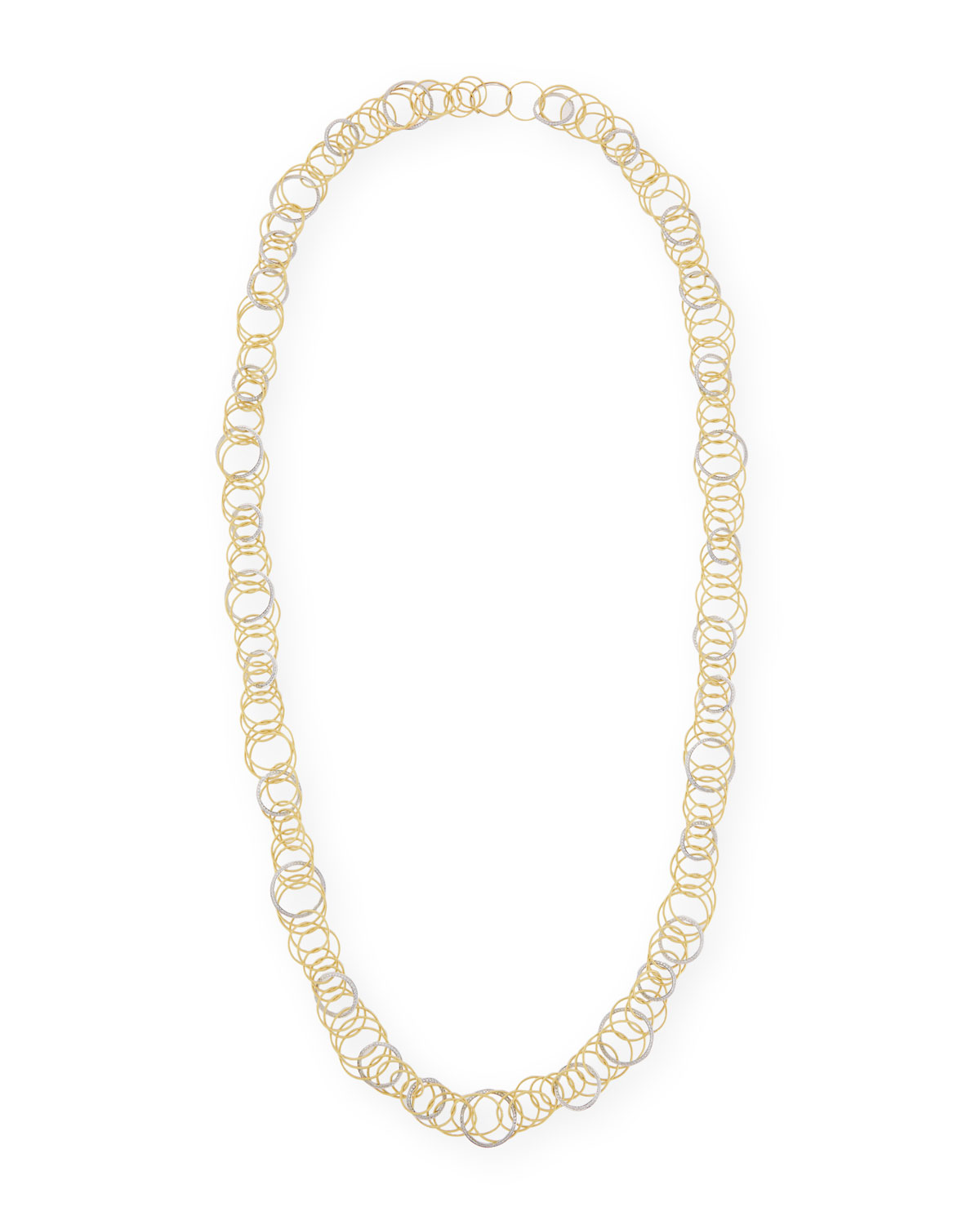 Hawaii Yellow/White Gold Long Necklace with Diamonds