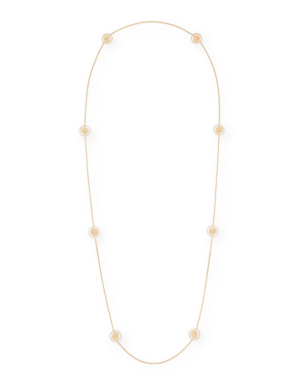 18k Gold Lucky Move Diamond Necklace