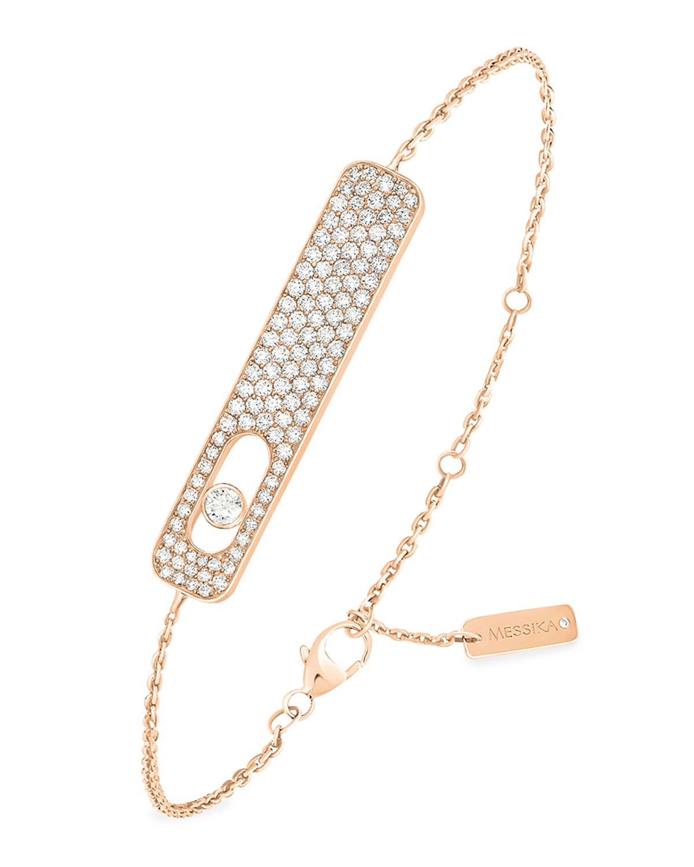 My First Diamond 18k Pink Gold Pave Bracelet