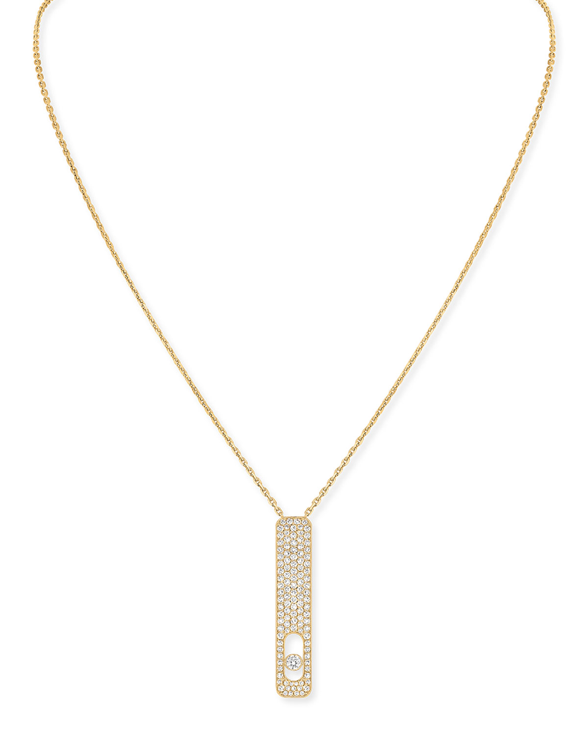 My First Diamond 18k Yellow Gold Pave Necklace
