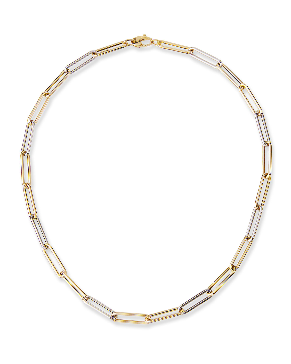 Solari Large 14k Two-Tone Chain Necklace