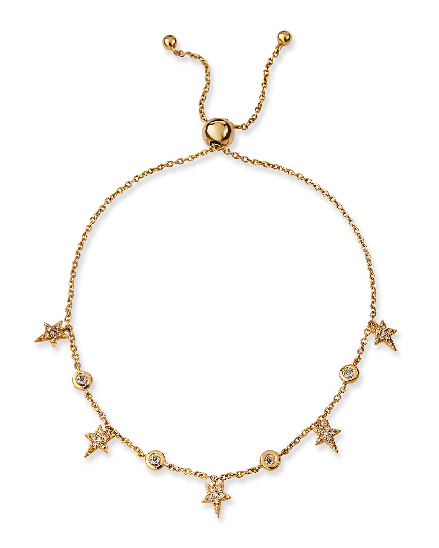 Siren Pave Diamond Stars and Bezel Bracelet
