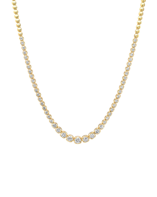18k Graduated Diamond Tennis Necklace
