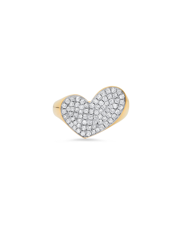 18K Yellow Gold Heart of Penacho Ring