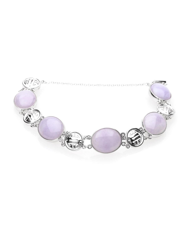 18k Lavender Jadeite Bracelet