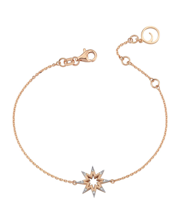 14k Rose Gold Venus Star Diamond Bracelet