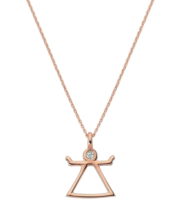 14k Rose Gold Tanit Diamond Necklace