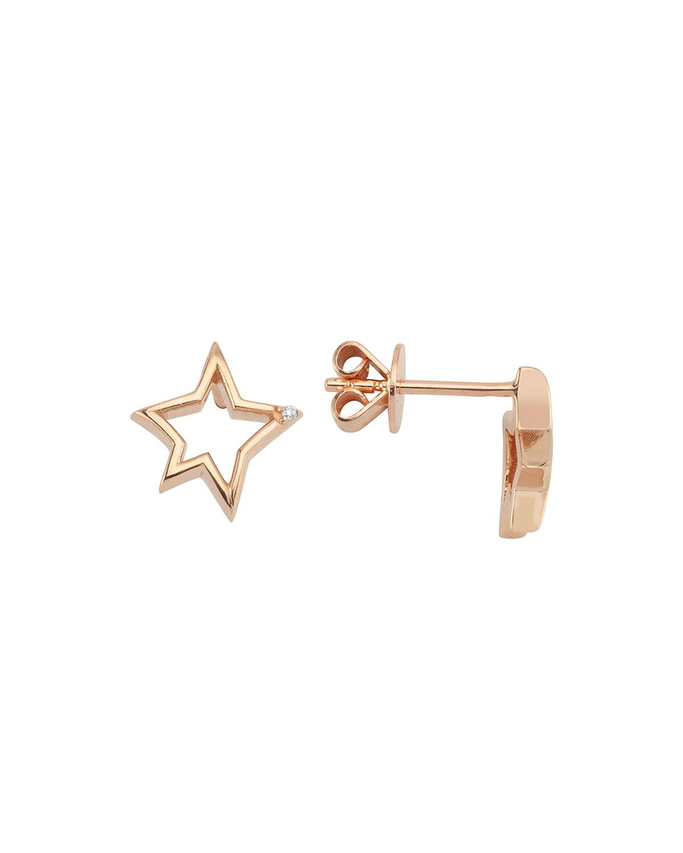 14k Rose Gold Sirius Stud Earrings