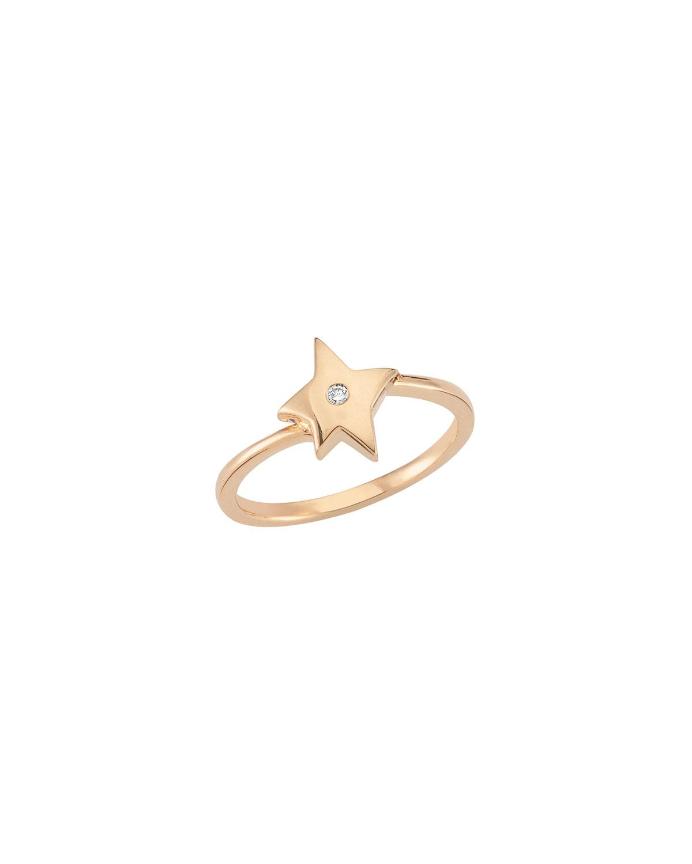 14k Rose Gold Sirius Star Diamond Ring