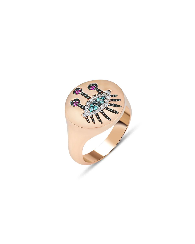 14k Rose Gold Eye Light Multi-Diamond Ring