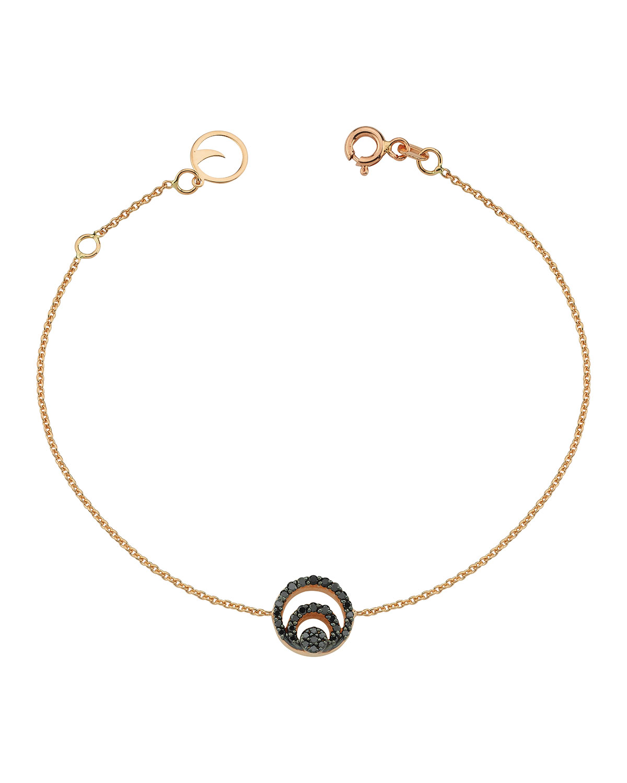 14k Rose Gold Chintamani Black Diamond Chain Bracelet